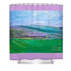 #1458 Mountain Escape Shower Curtain
