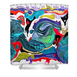 #1478 Dragons Eggs Shower Curtain