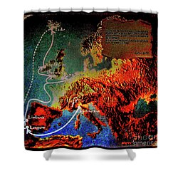 1478 Even Columbus Sailed Along The Wild Atlantic Way. Shower Curtain