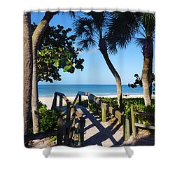 14th Ave S Beach Access Ramp - Naples Fl Shower Curtain
