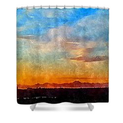 14th Floor Bellevue Place  Shower Curtain