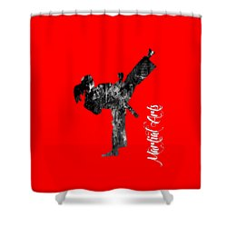Martial Arts Collection Shower Curtain