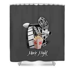 Movie Room Decor Collection Shower Curtain