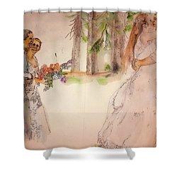 The Wedding Album  Shower Curtain by Debbi Saccomanno Chan