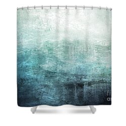 15c Abstract Seascape Sunrise Painting Digital Shower Curtain
