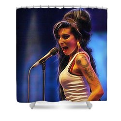 Amy Winehouse Collection Shower Curtain