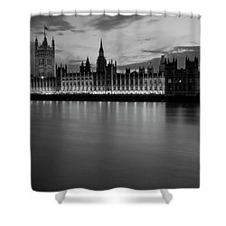 Big Ben And The Houses Of Parliament Shower Curtain by David French