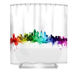 Philadelphia Pennsylvania Skyline Shower Curtain