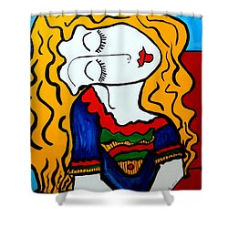 Shy Girl Picasso By Nora Shower Curtain