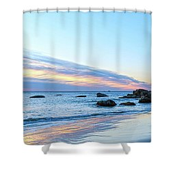 Rocky Daybreak Seascape Shower Curtain