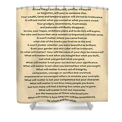 161- What Will Matter Shower Curtain