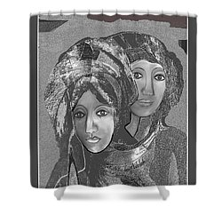 Shower Curtain featuring the digital art 1667 - The Sisters by Irmgard Schoendorf Welch