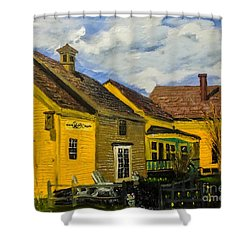 1690 Cafe And Bake Shop Shower Curtain