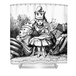 Carroll: Looking Glass Shower Curtain by Granger