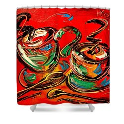 Coffee Shower Curtain by Mark Kazav