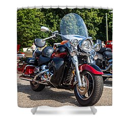 Hall County Sheriffs Office Show And Shine Car Show Shower Curtain by Michael Sussman