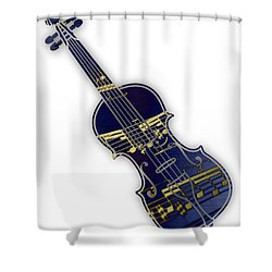 Violin Collection Shower Curtain by Marvin Blaine