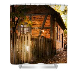 1700s House Old Salem Shower Curtain by Bob Pardue