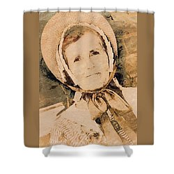 1700s Woman Shower Curtain by Bob Pardue
