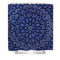 Shower Curtain featuring the ceramic art #1701 by Kym Nicolas