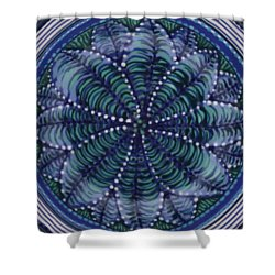 Shower Curtain featuring the ceramic art #1702 by Kym Nicolas
