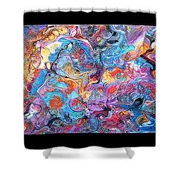#1709 Riotous Rainbow Shower Curtain