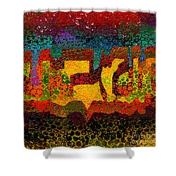 1732 Abstract Thought Shower Curtain