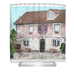 1775 Cafe De La Place Shower Curtain