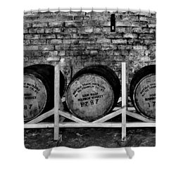 1787 Whiskey Barrels Shower Curtain