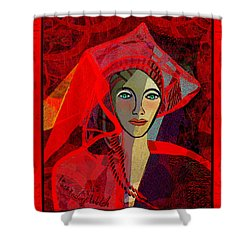 1791 - Lady In Red 2017 Shower Curtain by Irmgard Schoendorf Welch