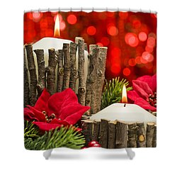 Shower Curtain featuring the photograph Autumn Candles by Ulrich Schade