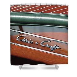 Classic Chris Craft Shower Curtain