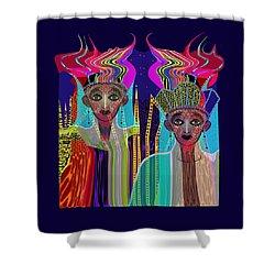 1800 - Magic Ladies -2017 Shower Curtain by Irmgard Schoendorf Welch