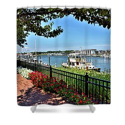 Shower Curtain featuring the photograph 1812 Memorial Park - Lewes Delaware by Brendan Reals