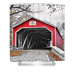 Shower Curtain featuring the photograph 1839 Kreidersville Bridge by DJ Florek