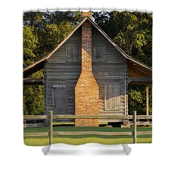1844 Log Cabin Shower Curtain