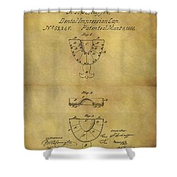 1866 Dental Mold Patent Shower Curtain by Dan Sproul
