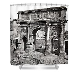 Shower Curtain featuring the photograph 1870 Arch Of Septimius Severus Rome Italy by Historic Image
