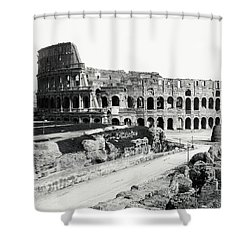 Shower Curtain featuring the photograph 1870 The Colosseum Of Rome Italy by Historic Image