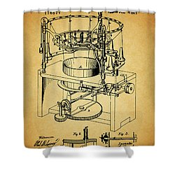 1871 Rotary Knitting Machine Shower Curtain by Dan Sproul