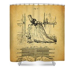 1874 Baby Exercising Corset Shower Curtain by Dan Sproul