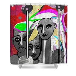 1876 - Sculpturesque - 2017 Shower Curtain by Irmgard Schoendorf Welch