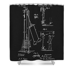 1885 Exercise Apparatus Shower Curtain by Dan Sproul