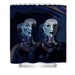 1885 - Shadows 2017 Shower Curtain by Irmgard Schoendorf Welch