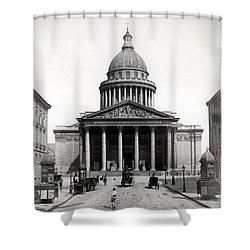 1890 The Pantheon Of Paris France Shower Curtain by Historic Image