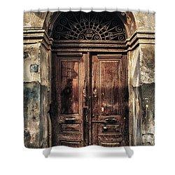 1891 Door Cyprus Shower Curtain by Stelios Kleanthous