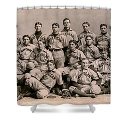 1896 Michigan Baseball Team Shower Curtain