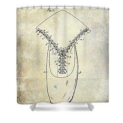 1896 Shoe Patent  Shower Curtain by Jon Neidert