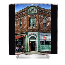 1898 Hotel Connor - Jerome Arizona Shower Curtain by Saija  Lehtonen