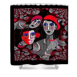 1898 -  Women Power 2017 Shower Curtain by Irmgard Schoendorf Welch